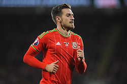 Aaron Ramsey of Wales - Mandatory byline: Dougie Allward/JMP - 07966 386802 - 13/10/2015 - FOOTBALL - Cardiff City Stadium - Cardiff, Wales - Wales v Andorra - European Qualifier 2016 - Group B