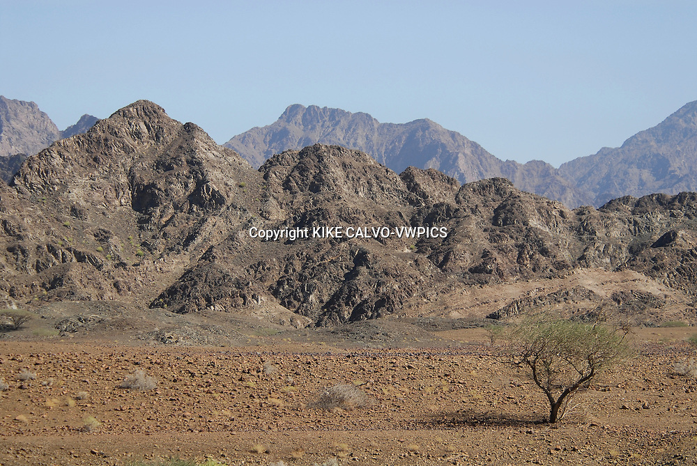 Hajar Mountains in Oman.