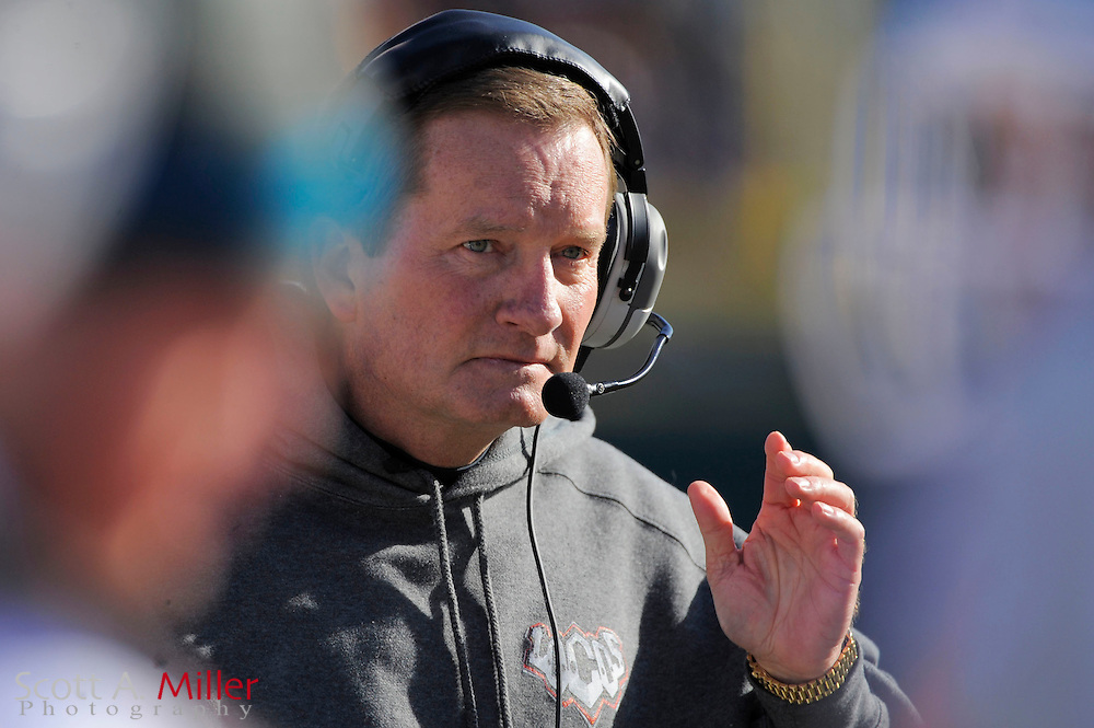Las Vegas Locomotives coach Jim Fassel during the United Football League championship game against the Florida Tuskers at Rosenblatt Stadium on Nov. 27, 2010 in Omaha, Nebraska. Las Vegas won the game 23-20...©2010 Scott A. Miller