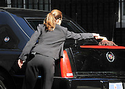 © licensed to London News Pictures. LONDON, UK  25/05/11. A chauffeur polishes the President's car. Barack Obama and David Cameron meet in Downing Street during US President Obama's first State Visit to the United Kingdom. Please see special instructions. Photo credit should read Stephen Simpson/LNP