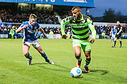 Forest Green Rovers Dan Wishart(17) runs forward during the Vanarama National League match between Macclesfield Town and Forest Green Rovers at Moss Rose, Macclesfield, United Kingdom on 12 November 2016. Photo by Shane Healey.