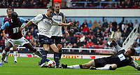 West Ham United FC vs Bolton Wanderers FC Premier League 05/10/08<br /> Photo Nicky Hayes/Fotosports International<br /> Gary Cahill scores Bolton's 2nd goal.