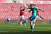 AFC Bournemouth midfielder David Brooks (7) shoots over th bar during the EFL Sky Bet Championship match between Middlesbrough and Bournemouth at the Riverside Stadium, Middlesbrough, England on 19 September 2020.