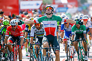 Arrival sprint Elia Viviani (ITA - QuickStep - Floors) during the 73th Edition Tour of Spain, Vuelta Espana 2018, stage 10 cycling race, Salamanca - Fermoselle Bermillo de Sayago 177 km on September 4, 2018 in Spain - Photo Luca Bettini / BettiniPhoto / ProSportsImages / DPPI