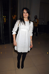 Singer KT TUNSTALL at 'Not Another Burns Night' in association with CLIC Sargebt and Children's Hospice Association Scotland held at ST.Martins Lane Hotel, London on 3rd March 2008.<br />