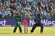 Joe Root of England plays a scoop shot during the third Royal London One Day International match between England and Pakistan at the Bristol County Ground, Bristol, United Kingdom on 14 May 2019.