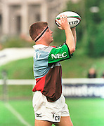 Twickenham, GREAT BRITAIN. Quins' xxxxx throws the line out ball during the Harlequins v Saracens on 9/10/1999 at the Stoop. England.  [Mandatory Credit; peter Spurrier; Intersport Images]