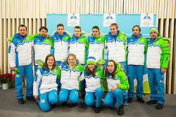 Cross country team during presentation of Slovenian Young Athletes before departure to EYOF (European Youth Olympic Festival) in Vorarlberg and Liechtenstein, on January 21, 2015 in Bled, Slovenia. Photo by Vid Ponikvar / Sportida