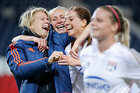 Ada Hegerberg (Olympique Lyonnais), Saki Kumagai (Olympique Lyonnais), Lotta SCHELIN (Olympique Lyonnais) during the UEFA Women's Champions League, semi final football match, 2nd leg, between Paris Saint Germain and Olympique Lyonnais on May 2, 2016 at Parc des Princes stadium in Paris, France - Photo Stephane Allaman / DPPI