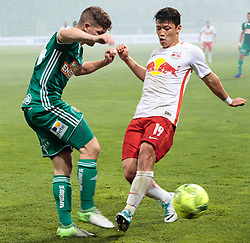 01.06.2017, Woerthersee Stadion, Klagenfurt, AUT, OeFB Samsung Cup, SK Rapid Wien vs FC Red Bull Salzburg, Finale, im Bild v.l. Stephan Auer (SK Rapid Wien), Hee Chan Hwang (FC Red Bull Salzburg) // during the Final Match of the Austrian Samsung Cup between SK Rapid Wien and FC Red Bull Salzburg at the Woerthersee Stadion in Klagenfurt, Austria on 2017/06/01. EXPA Pictures © 2017, PhotoCredit: EXPA/ Johann Groder