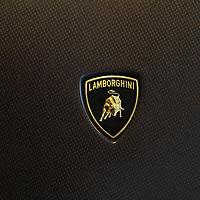 Lamborghini logo at the Lamborghini Museum in Sant'Agata Bolognese, Italy, May 2014