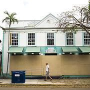 MARATHON, FL - SEPTEMBER 16: <br /> A pedestrian walks along Duval Street in Key West on September 16, 2017 in Marathon, Florida.  (Photo by Angel Valentin/Getty Images)