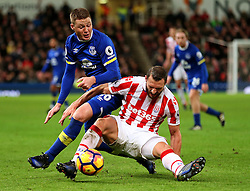 James McCarthy of Everton challenges Erik Pieters of Stoke City - Mandatory by-line: Matt McNulty/JMP - 01/02/2017 - FOOTBALL - Bet365 Stadium - Stoke-on-Trent, England - Stoke City v Everton - Premier League