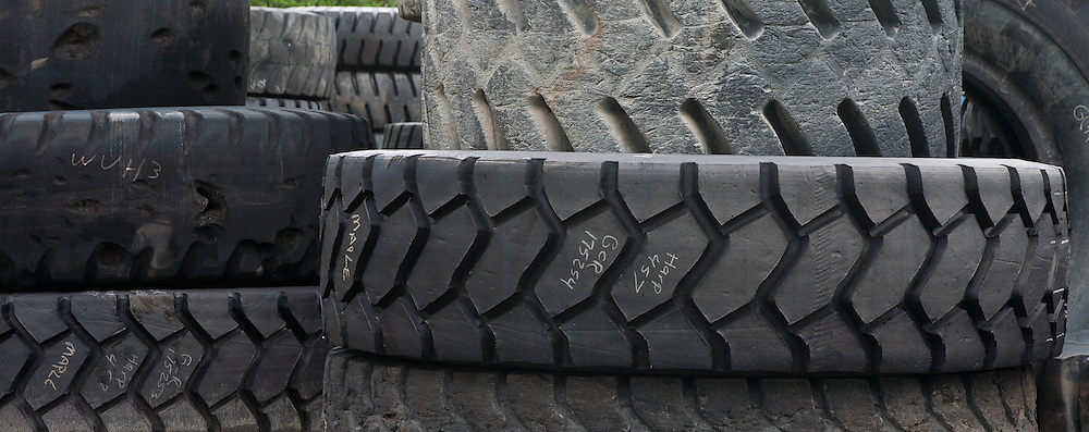 Used heavy equipment tires.  Harper, West Virginia