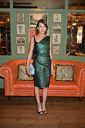 PICTURE SHOWS:-ELLA CATLIFF.<br /> Tuesday 14th April 2015 saw a host of London influencers and VIP faces gather together to celebrate the launch of The Ivy Chelsea Garden. Live entertainment was provided by jazz-trio The Blind Tigers, whilst guests enjoyed Moët & Chandon Champagne, alongside a series of delicious canapés created by the restaurant's Executive Chef, Sean Burbidge.<br /> The evening showcased The Ivy Chelsea Garden to two hundred VIPs and Chelsea<br /> residents, inviting guests to preview the restaurant and gardens which marry<br /> approachable sophistication and familiar luxury with an underlying feeling of glamour and theatre. The Ivy Chelsea Garden's interiors have been designed by Martin Brudnizki Design Studio, and cleverly combine vintage with luxury, resulting in a space that is both alluring and down-to-earth.