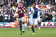 Aston Villa Defender, James Chester (12) ansd Blackburn Rovers Forward, Danny Graham (12)  during the EFL Sky Bet Championship match between Blackburn Rovers and Aston Villa at Ewood Park, Blackburn, England on 29 April 2017. Photo by Mark Pollitt.