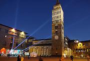 La torre del campanile di Pistoia in Piazza del Duomo. Pistoia, Capitale della Cultura italiana 2017