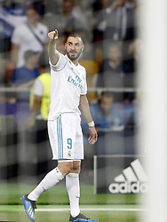 Karim Benzema of Real Madrid during the UEFA Champions League final between Real Madrid and Liverpool on May 26, 2018 at NSC Olimpiyskiy Stadium in Kyiv, Ukraine