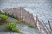 Wood Beach Fence