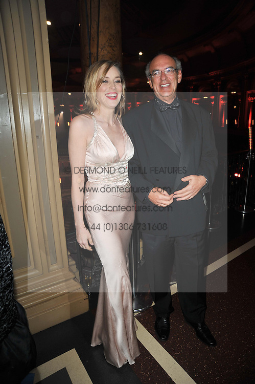 SHARON STONE and ? at a gala eveing to celebrate the 80th birthday of former Soviet leader Mikhail Gorbachev held at The Royal Albert Hall, London on 30th March 2011.