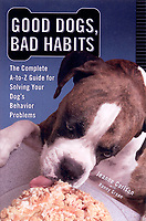 Good Dogs, Bad Habits, book cover showing Boxer licking cake.