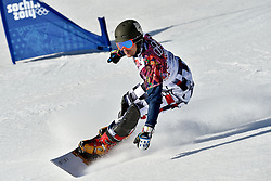 22-02-2014 SNOWBOARDEN: OLYMPIC GAMES: SOTSJI<br /> Parallelslalom Extreem park Rosa Khutor / Vic Wild RUS<br />  Foto Ronald Hoogendoorn / Sportida.com