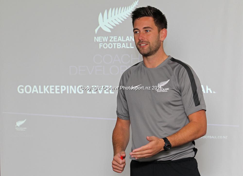New Zealand Football GK Coach Education Course, Bruce Pulman Lodge Papakura, Sunday 17th April 2016. Copyright Photo: Ben Campbell / www.photosport.nz