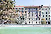 Milan, Talent Garden coworking company. swimming pool on the roof top