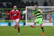 Forest Green Rovers Liam Noble(15) passes the ball during the Vanarama National League match between Forest Green Rovers and Wrexham FC at the New Lawn, Forest Green, United Kingdom on 18 March 2017. Photo by Shane Healey.