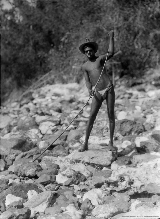 Young Aborigine With Fishing Spear, Albatross Bay, Queensland, 1930