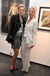 Left to right, MALIN JEFFERIES and TAMARA BECKWITH at a private view of photographs by Herb Ritts held at Hamiltons Gallery, 13 Carlos Place, London on 21st June 2011.