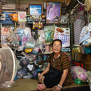 Portrait of Thai woman at Khlong Toei market, Bangkok