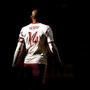 Thierry Henry, New York Red Bulls, during the New York Red Bulls Vs Columbus Crew, Major League Soccer regular season match at Red Bull Arena, Harrison, New Jersey. USA. 19th October 2014. Photo Tim Clayton