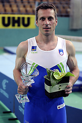 Aljaz Pegan placed second at Salamunov memorial World Cup, on April 19, 2009, in Arena Luknja, Ljudski vrt, Maribor, Slovenia. (Photo by Zoran Flis / Sportida)