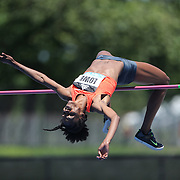 Chaunte Lowe, USA, in action during the Women's High Jump Competition at the Diamond League Adidas Grand Prix at Icahn Stadium, Randall's Island, Manhattan, New York, USA. 13th June 2015. Photo Tim Clayton