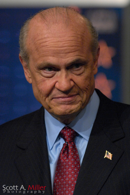 Orlando, Fla., USA; Oct. 21, 2007 - Republican presidential hopeful Fred Thompson during the Republican debate debate hosted by FOX News in Orlando, Fla. ..©2007 Scott A. Miller