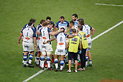 Castres Olympique team after the try scored by Julien Dumora (Castres Olympique) during the French Championship Top 14 rugby union match between Montpellier Herault rugby and Castres Olympique on June 2, 2018 at Stade de France in Saint-Denis near Paris, France - Photo Stephane Allaman / ProSportsImages / DPPI