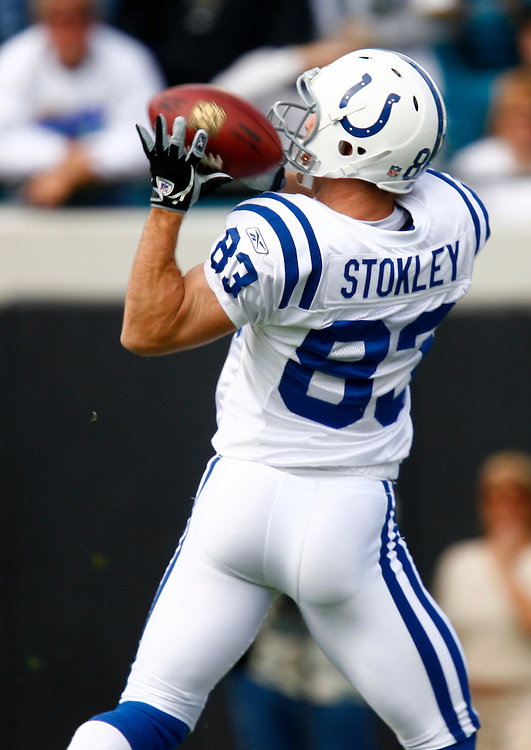 JACKSONVILLE, FL - DECEMBER 10: Wide Receiver Brandon Stokley #83 of the Indianapolis Colts can't make a catch against the Jacksonville Jaguars on December 10, 2006 at Alltel Stadium in Jacksonville, Florida. The Jaguars defeated the Colts   44 to 17.