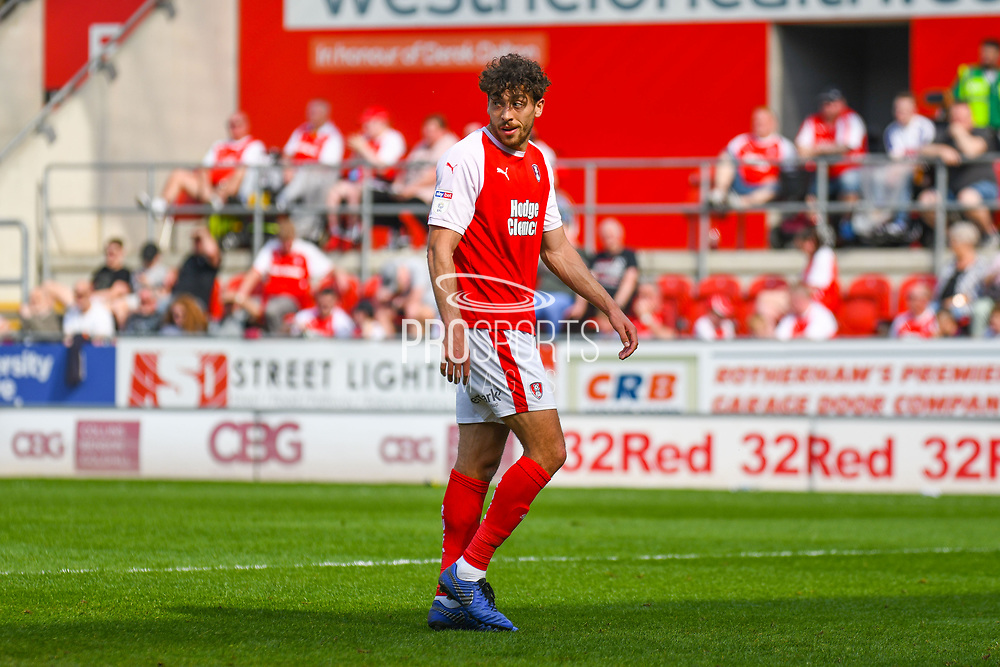Matt Crooks of Rotherham United (17) in action during the EFL Sky Bet Championship match between Rotherham United and Birmingham City at the AESSEAL New York Stadium, Rotherham, England on 22 April 2019.