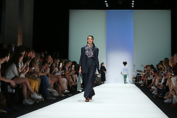 July 5, 2018 - Berlin, Berlin-Mitte, Germany - Berlin: The photo shows models on the catwalk with the collection spring/summer 2019  of the designer Julia Velazquez (Credit Image: © Simone Kuhlmey/Pacific Press via ZUMA Wire)