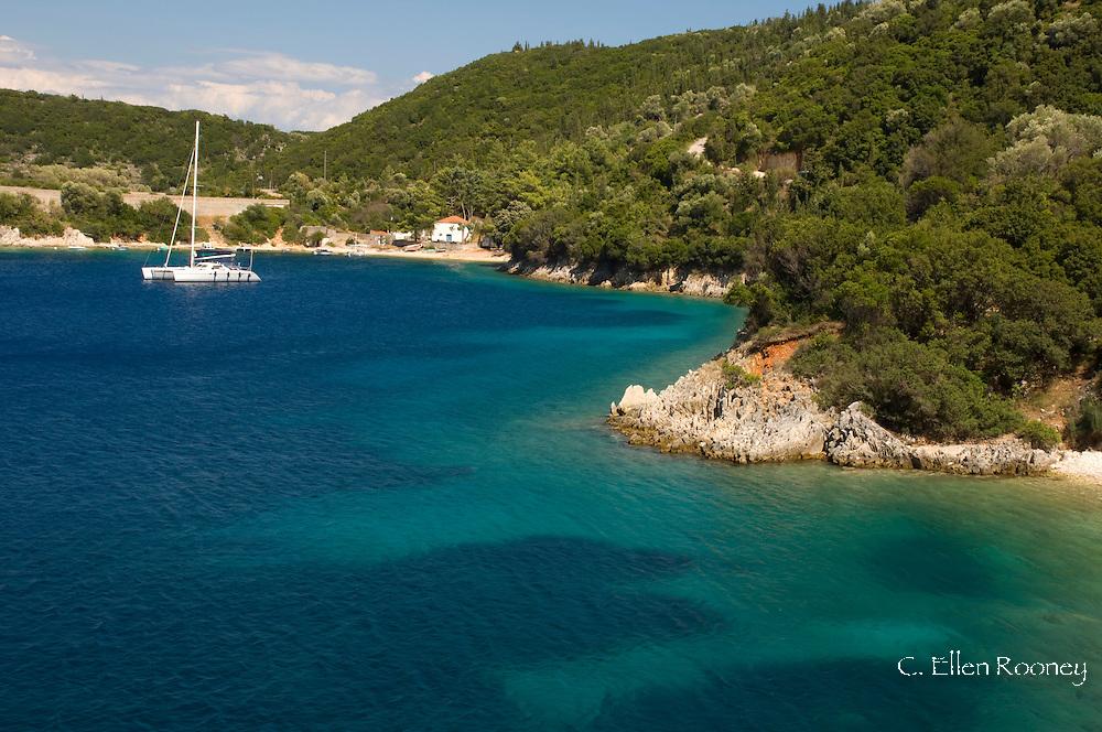 The coast between Frikes and Kioni;  Ithaca, The Ionian Islands, Greece