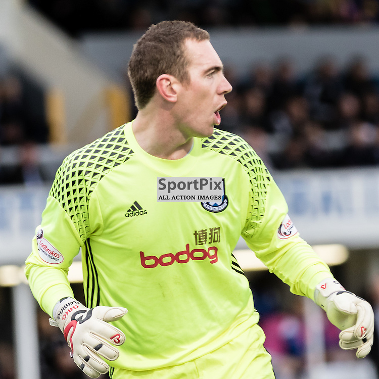 Ayr United goalkeeper Greg Fleming (1) during the Scottish Championship game between Greenock Morton and Ayr United at Cappielow Park on 29th October, 2016 in Greenock, Scotland.   (c) BERNIE CLARK | SportPix.org.uk