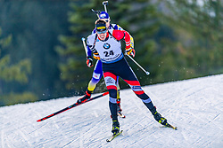 16.01.2020, Chiemgau Arena, Ruhpolding, GER, IBU Weltcup Biathlon, Sprint, Herren, im Bild Julian Eberhard (AUT) // Julian Eberhard of Austria during the men's sprint competition of BMW IBU Biathlon World Cup at the Chiemgau Arena in Ruhpolding, Germany on 2020/01/16. EXPA Pictures © 2020, PhotoCredit: EXPA/ Stefan Adelsberger