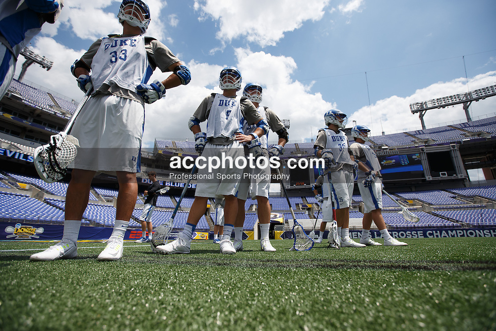 2014 May 23: Tanner Scott #5 of the Duke Blue Devils during practice at M&T Bank Stadium in Baltimore, MD.
