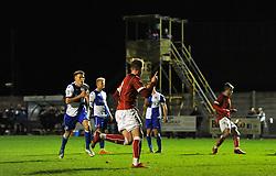 Connor Lemonheigh-Evans of Bristol City celebrates after equalising - Mandatory by-line: Paul Knight/JMP - 16/11/2017 - FOOTBALL - Woodspring Stadium - Weston-super-Mare, England - Bristol City U23 v Bristol Rovers U23 - Central League Cup