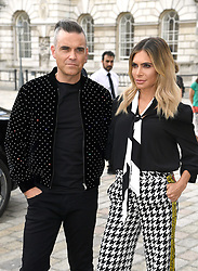 Robbie Williams and Ayda Field arrive at the X Factor photocall held at Somerset House, London.