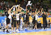 DESCRIZIONE : Lubiana Ljubliana Slovenia Eurobasket Men 2013 Preliminary Round Francia Germania France Germany<br /> GIOCATORE : Team Germania Germany Team<br /> CATEGORIA : esultanza jubilation<br /> SQUADRA : Germany Germania<br /> EVENTO : Eurobasket Men 2013<br /> GARA : Francia Germania France Germany<br /> DATA : 04/09/2013 <br /> SPORT : Pallacanestro <br /> AUTORE : Agenzia Ciamillo-Castoria/T.Wiedensohler<br /> Galleria : Eurobasket Men 2013<br /> Fotonotizia : Lubiana Ljubliana Slovenia Eurobasket Men 2013 Preliminary Round Francia Germania France Germany<br /> Predefinita :