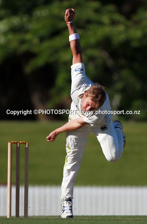 Otago bowler Neil Wagner. Otago Volts v Central Districts Stags, 4 Day Plunket Shield cricket match, Bert Sutcliffe Oval, Lincoln, Monday 14 November 2011. Photo : Joseph Johnson / photosport.co.nz