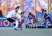 FUSSBALL UEFA U21-EUROPAMEISTERSCHAFT Halbfinale 2019  in Italien  Deutschland - Rumaenien    27.06.2019 JUBEL Deutschland nach dem Tor zum 1-0; Levin Oeztunal und  Torschuetze Nadiem Amiri (re)
