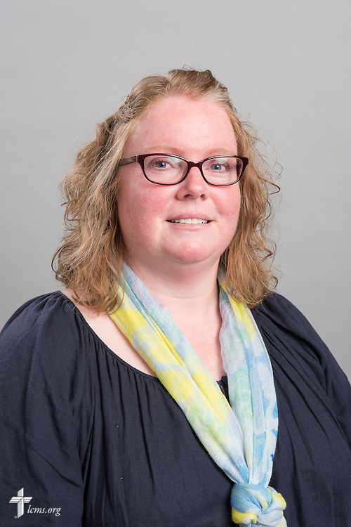 Headshot photograph of Jennifer McBurney at the International Center of The Lutheran Church–Missouri Synod on Wednesday, April 15, 2015, in Kirkwood, Mo. LCMS Communications/Erik M. Lunsford
